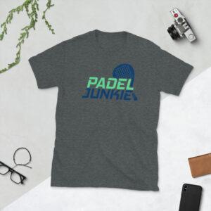 Padel junkie t shirt grey