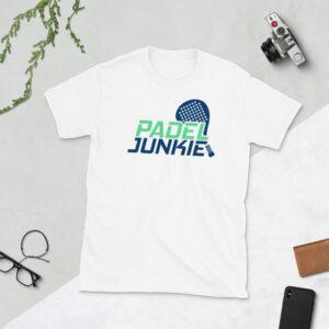 Padel-junkie-t-shirt-white